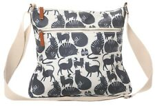 Cats Crossbody Shoulder Bag Cream Beige Grey Blue Cute Cats Handbag Kitty New