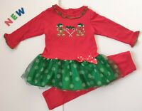 Toddler Kids Baby Girls Clothes 18M - 3T NWOT GoodLad Christmas Gingerbread Man