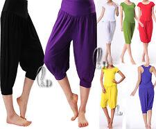 Womens SZ 8-18 Casual Yoga Harem Beach Pants Dance Gym Sports Loose Short P028