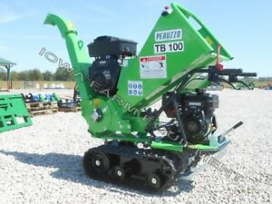 "Drum Type Palm Frond,Wood Chipper,Tracked,Self-Powered:Peruzzo TB100C,4""Diax12""W"