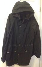 DIESEL BLACK GOLD Mens Coat Jacket 54 Japanyl Zip Hooded Italy Brand New NWT