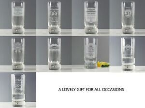 Personalised Hi Ball Bubble Glass Choose Design For All Occasions