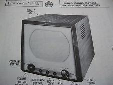 PHILCO 51-PT1207, 51-PT1208, 51-PT1234, & 51-PT1282 TELEVISION PHOTOFACT