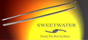 """Sweetwater 2mm 6"""" 99.997% Ultra Pure Silver Wire Rods Free Colloidal Mail"""