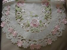 "16x54"" Embroidery Pink Organza TableCloth Table Runner Home Office Hotel Decor"