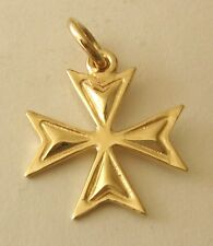 GENUINE SOLID 9K 9ct Yellow Gold  MALTESE CROSS  CHARM PENDANT  GIFT RRP$119