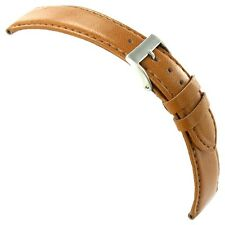 20mm Milano Silicon Tan Genuine Italian Leather Mens Padded Watch Band 755