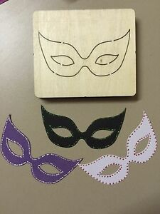 WOODEN DIE CUTTER- MASK, Use in Sizzix Big Shot