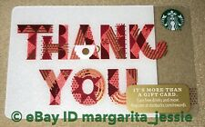 NEW STARBUCKS CARD 2017 HOLIDAY W/ BARCODE THANK YOU LIMITED NO VALUE