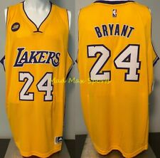 KOBE BRYANT Los Angeles Lakers JB BUSS Patch THROWBACK Gold SWINGMAN Jersey XXL