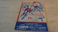 1962-63 Springfield Indians @ Buffalo Bisons AHL Hockey Program - GD