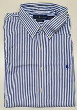 Men's Ralph Lauren Classic Fit Cotton Oxford Shirt Striped- Sizes  M-XL