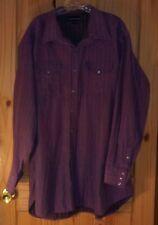 Panhandle Slim Vintage Purple Long Sleeve Pearl Snap Shirt, Mens XXL