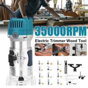 """Electric Hand Trimmer Palm Router Laminate Wood Laminator 800W 220V 1/4"""" 6mm UK"""