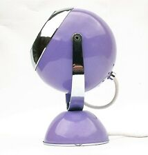 Vintage Bullseye Table Bedside Lamp Purple/Lilac Pop Art Modernist Sputnik