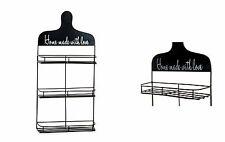 Estanteria pared metal, 3 estantes, 28 x 9 x 57