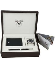 VISCONTI Michelangelo ROLLER BALL PEN & ADAM WATCH & LEATHER WALLET SET $1,900