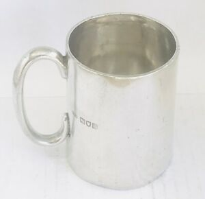 Rare Antique English sterling silver Mug or Cup ,London , hallmarked c1905