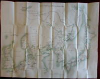 Korea China Port Arthur Japan 1908 Russo-Japanese large detailed scarce map