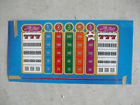 Vintage Thin Plastic The Drop Blue Slot Machine Payout Face Plate Insert LOOK