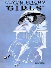 THEATRE STAGE COMEDY GIRLS MISS KATE FITCH BROADWAY USA ART PRINT POSTER BB9522