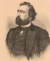 Portrait Léon Gambetta Guerre 1870 Gouvernement de la Défense nationale