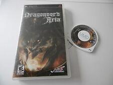 DRAGONEERS'S ARIA RARE ORIGINAL RPG SONY PSP GAME PAL