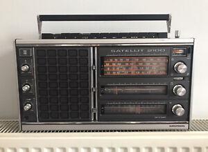 Rare Vintage Genuine Grundig Radio Satellit 2100 World Receiver