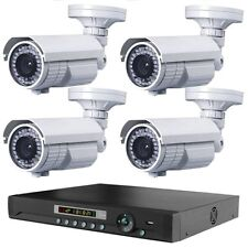 4 LONG DISTANCE WIRELESS 2,500FT OUTDOOR NIGHTVISION 1200TVL CAMERA SYSTEM