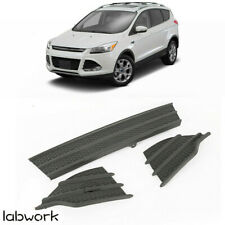Black ECOTRIC Front Bumper Trim Lower Grills Fog Covers 3Pcs for Ford Escape 2013 2014 2015 2016