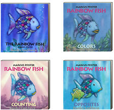 The Rainbow Fish, Rainbow Fish Colors, Counting & Opposites  4 Board Books Set