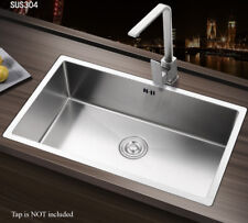 Square Large Handmade Single Bowl Stainless Steel Undermount Kitchen Sink