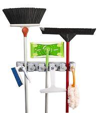 Spoga Garage Storage Mop Broom and Sports Equipment Organizer Wall Mount Home
