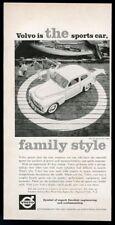 1960 Volvo PV544 PV 544 white car photo vintage print ad