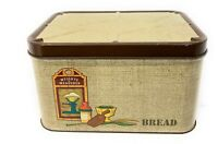 VINTAGE KITCHEN MADE IN USA METAL WEIGHTS & MEASURES BREAD BOX