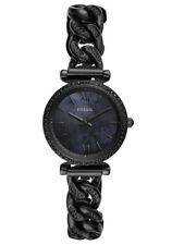 Fossil Women's Carlie Mini Three-Hand Black Stainless Steel Watch ES4690