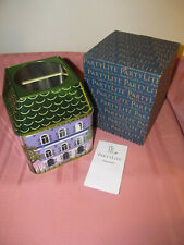 New In Box Partylite Retired Spring Village 3-Wick Jar Tin House Shaped