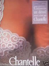 PUBLICITÉ SOUTIEN-GORGE CHANTELLE LA BRODERIE AU POINT DE BOURDON - ADVERTISING