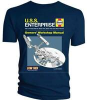 Star Trek T Shirt USS Enterprise NCC 1701 Haynes Manual Official NEW S