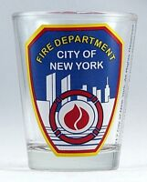 FDNY New York City Fire Department Clear Shot Glass