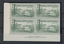 1958 Papua New Guinea SG 20 imprint block four 2muh 2mlh