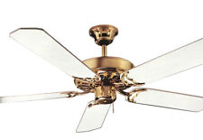 NuTone 42-inch Ceiling Fan 5 Blade Polished Brass with White Blades  #PFMB42-WB