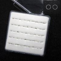 Wholesale Lots 20Pcs 925 Sterling Solid Silver Nose Open Hoop Lip Ring 22 Gauge