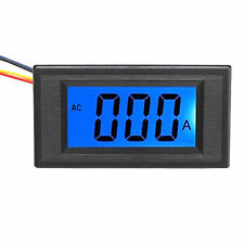 US Stock Blue LCD Digital AMP Current Panel Meter Ammeter AC 0~5A