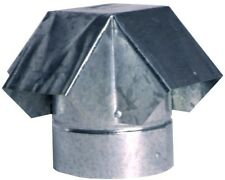 4 in Galvanized Steel Roof Pipe Vent Cap Rain Snow Debris Protection Ventilation