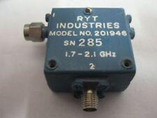 RYT Microwave RF Isolator 201946 1.7-2.1 GHz SMA TESTED