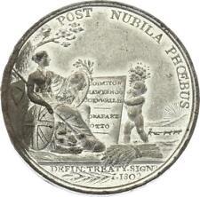 O4398 Scarce Medal Great Britain John George Cornwallis Admiralty Amiens 1802 AU