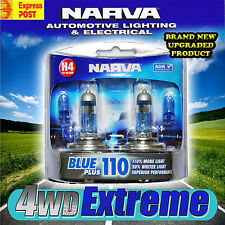 NARVA H4 BLUE +110% PLUS 110 HALOGEN HEADLAMP LIGHT BULBS GLOBES 48532BL2 +90