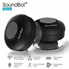 Waterproof Bluetooth Mini Shower Car Handsfree Mic Speaker Suction Black