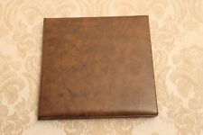 BROWN LEATHER 2 PHOTO PICTURE 3.5 X 5 PORTFOLIO